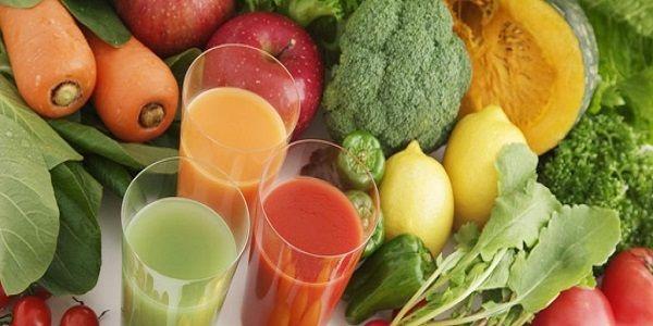 В диету входят свежие овощи и фрукты