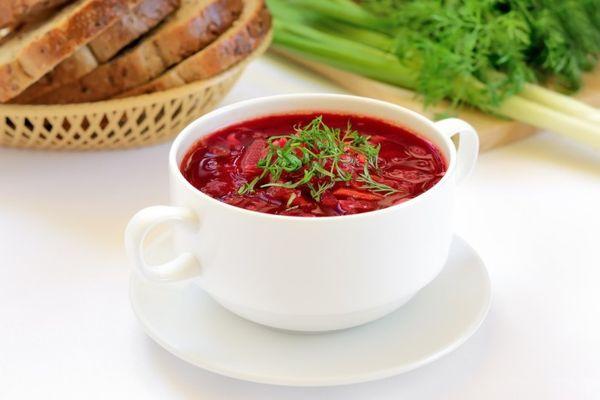 Вегетарианский борщ полезен при подагре