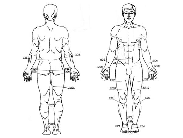 Активные точки для массажа