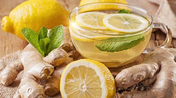 Имбирный чай хорошо снимает воспаление